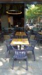 terrastafel met anti-wiebel onderstel en bamboe blad